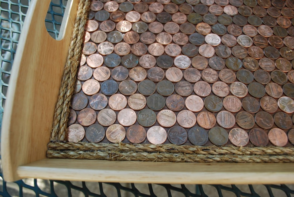 Ikea Hackers Copper Penny Serving Tray