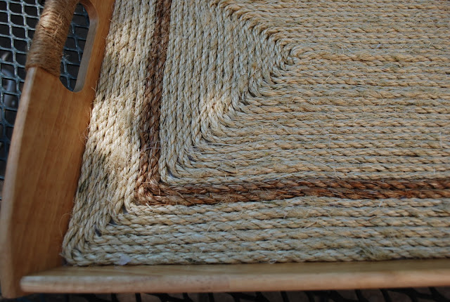 Ikea Hackers Rope Serving Tray Closeup